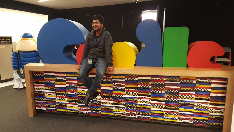 Pallav sitting with Google logo