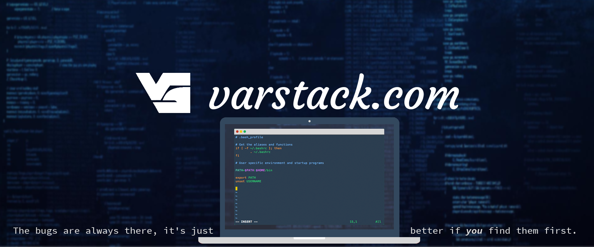 Varstack Logo - Bugs are always there